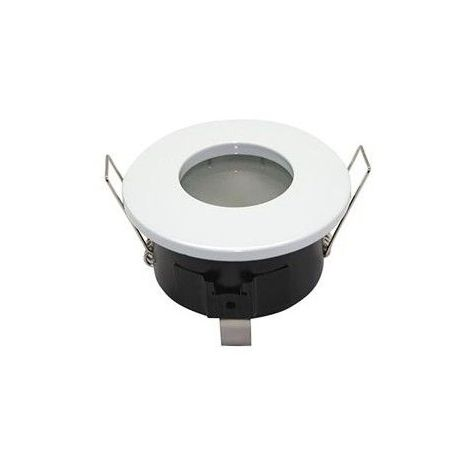 Support Spot LED BBC étanche IP65 Fixe Rond D82 Finition blanc