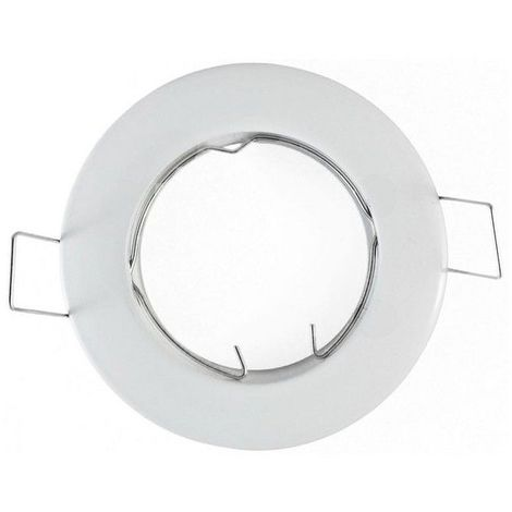 Support Spot Led Fixe Rond D78 Finition Blanc