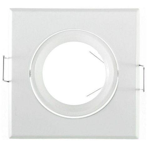 Support Spot LED Orientable Carré 84 Blanc