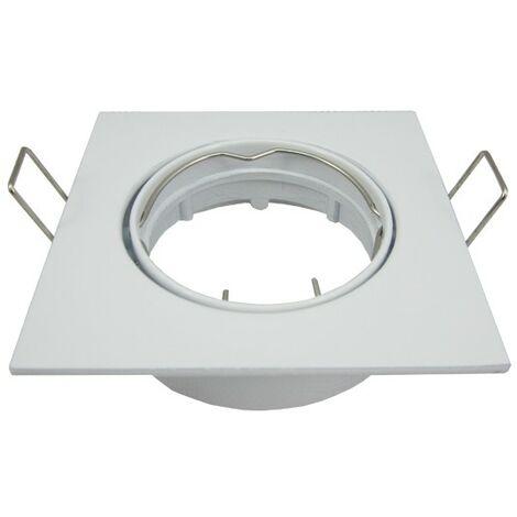 Support spot LED orientable carré D82 Blanc