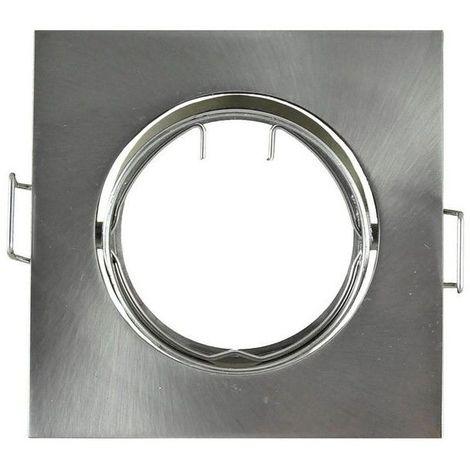 Support Spot LED Orientable Carr� 84 Argent bross�