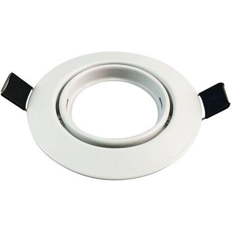 Support Spot LED Orientable Rond 82mm trou de perçage 65mm