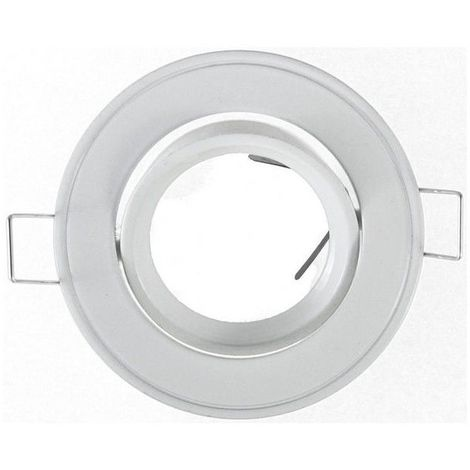 Support Spot Led Orientable Rond D86 Finition Blanc