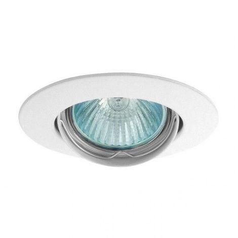 Support spot rond orientable 88 mm (4 couleurs au choix) - Finition - Blanc