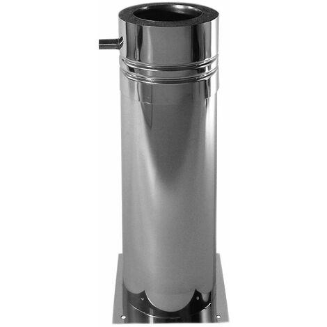 Support télescopique inox diamètre 150 mm 60 - 520 mm double paroi