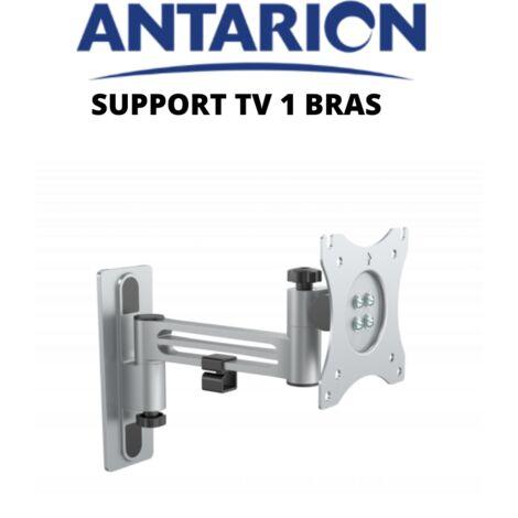 Support TV articulé 1 bras en aluminium