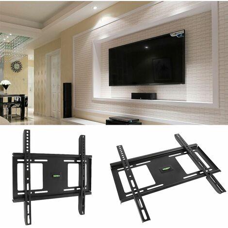 Support TV Fixation Mural Réglable pour les Télévision 26-55 Pouces-Noir