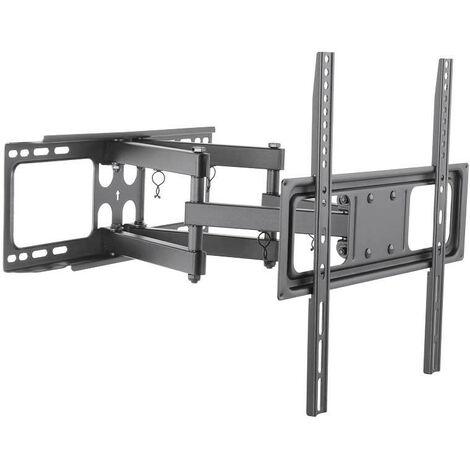 Support TV inclinable, dépliable et orientable 106 à 140 cm