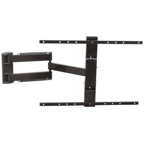 Support tv led inclinable double bras articulé - Fixation : Murale - Pour écran : 32 à 55\ - Profondeur maxi : 650 mm - Profondeur mini : 40 mm - Décor : Noir - Charge : 25 kg - Version : Bras doubl - Profondeur mini : 40 mm