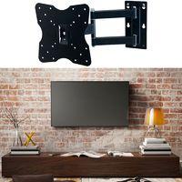 Support TV mural pivotant et inclinable capacité 25kg écran LCD, LED, plasma