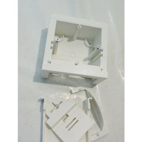 Support universel 60mm blanc pour pose appareillage mural en saillie avec adaptateur pour moulure ATA / LF HAGER ATA806099010