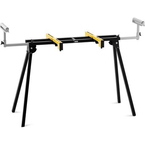 Support Universel Pour Scie À Onglet Piétement Mobile Pliable 102-188 cm 200 kg