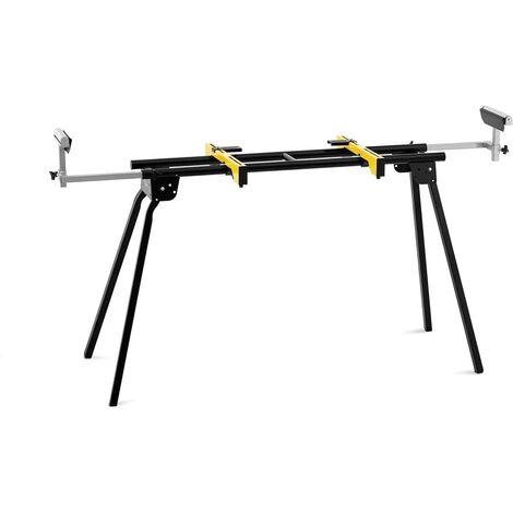 Support Universel Pour Scie À Onglet Piétement Mobile Pliable 134-300 cm 300 kg