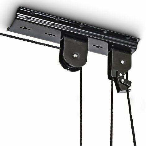 Support vélo rangement vélo plafond Garage Ascenseur VTT Stockage bicyclette noir - Noir