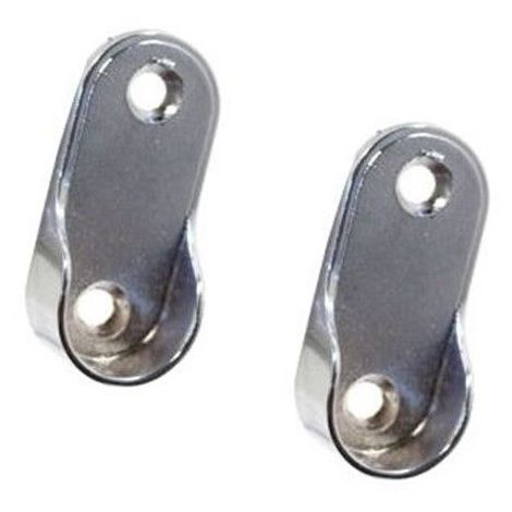 Appendiabiti Per Armadio.Supporti Per Bastone Appendiabiti Per Armadio In Metallo Con Viti