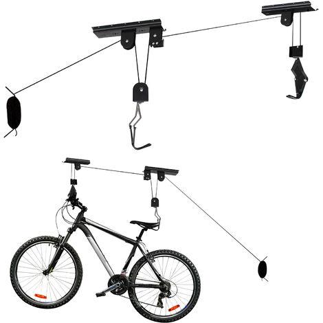 3dc820f2753b25 Supporto a soffitto per bici Appendibici gancio gommato 20kg - 60387
