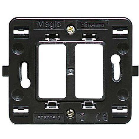 Supporto Bticino Magic 2 posti separati per scatola tonda 500S/2