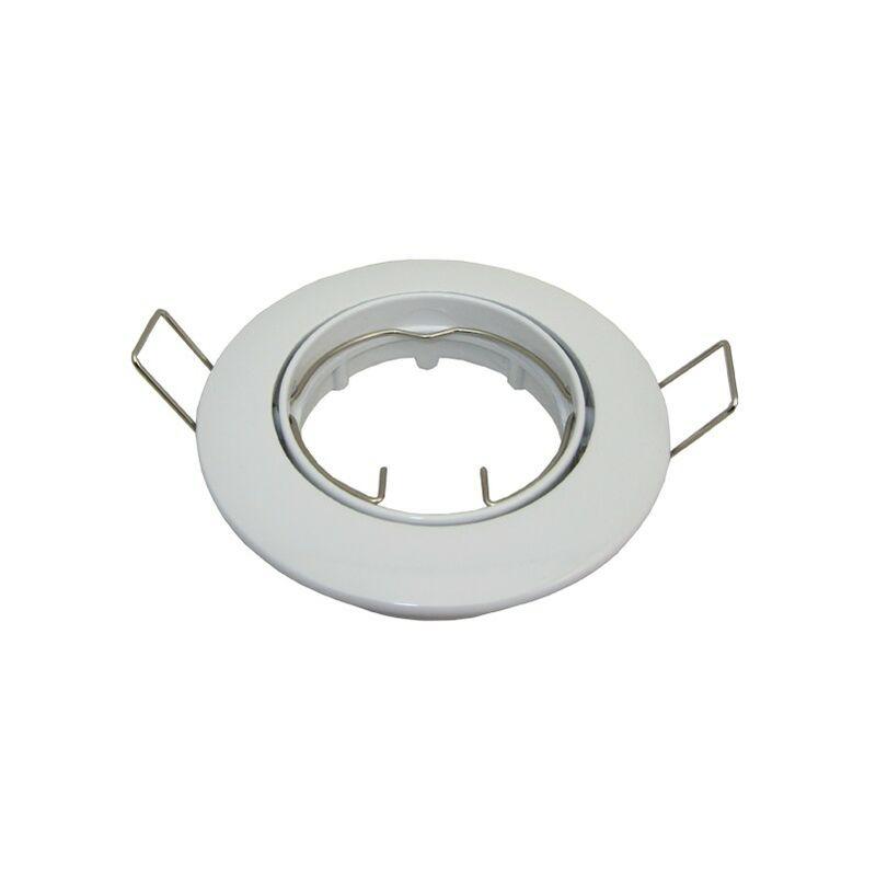 Supporto girevole bianco per punto incasso D10 GU10