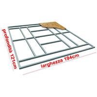 Supporto pavimento base Box Casetta 194x121cm FLOOR XS