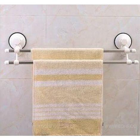 Portasalviette Bagno A Ventosa.Supporto Porta Asciugamani X Bagno A Due Aste Fissaggio A Ventosa Niente Fori