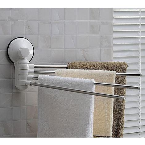 Porta Asciugamani Per Bagno.Supporto Porta Asciugamani X Bagno Fissaggio A Ventosa Niente Fori