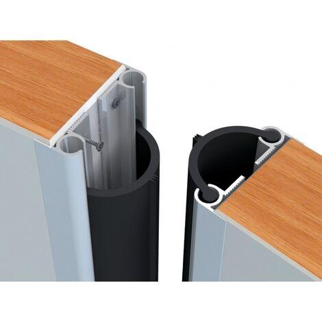 Supports aluminium longueur 250 mm pour joints d'étanchéité caoutchouc de portes va-et-vient la paire