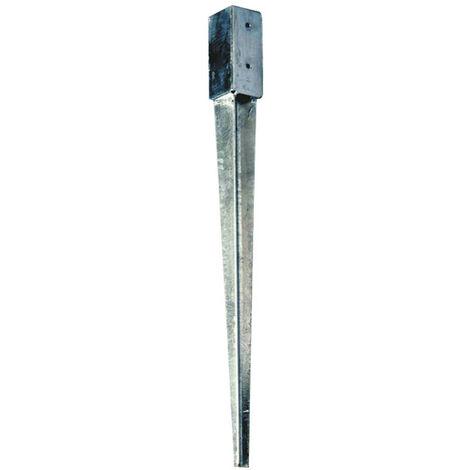 Supports en acier galvanisé à enfoncer 7cm