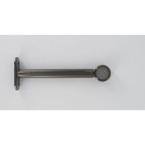 Supports extensibles de 15 à19 cm x 2 Métal Graphite pour Tringle à Rideaux Ø 20 mm