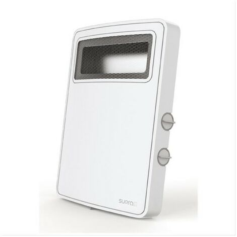 SUPRA RADIATEUR SOUFFLANT MOBILE - Blanc - 2 allures - Thermostat - Ventilati