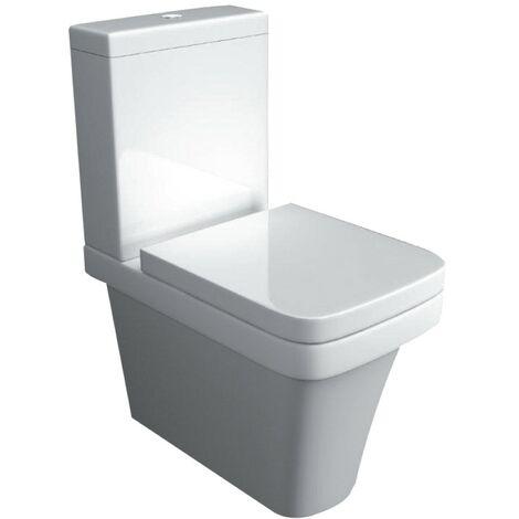 Supreme 600 Close Coupled Closed Back Toilet & Soft Close Seat