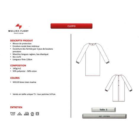 SUR-BLOUSE MEDICALE BLANCHE LAVABLE 70° disponible Blanc Unique - Blanc