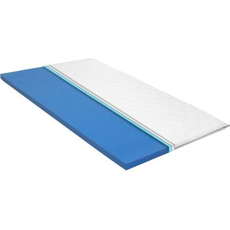 Sur-matelas 100 x 200 cm Mousse à mémoire de forme Visco 6 cm