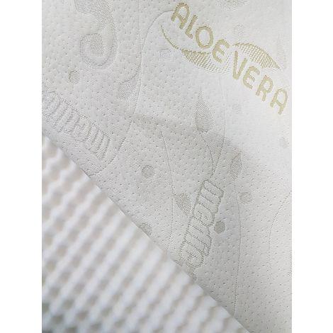 Sur-matelas 120x190 Epais Hauteur 7 cm-Déhoussable Aloé Vera Trés moelleux 120 x 190