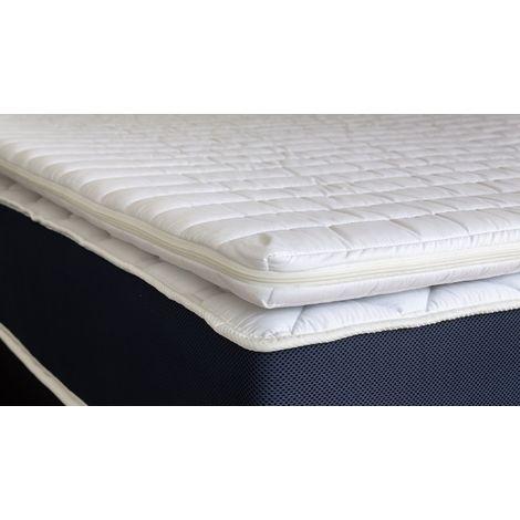 Sur-matelas déhoussable 140x190 Confort Plus Hbedding - Mousse polyuréthane