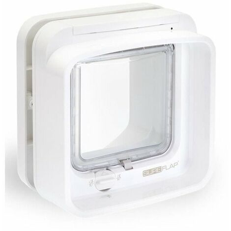 sureflap dualscan chatiere a puce lectronique blanc. Black Bedroom Furniture Sets. Home Design Ideas