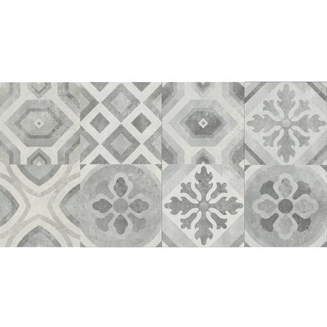 Surface Grey Décor Matt 30 x 30 Porcelain Décor Tile