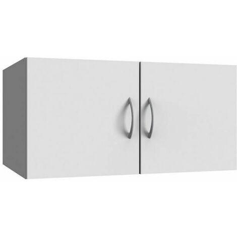 Surmeuble colonne de rangement LUND blanc mat 70 x 40 cm profondeur - blanc