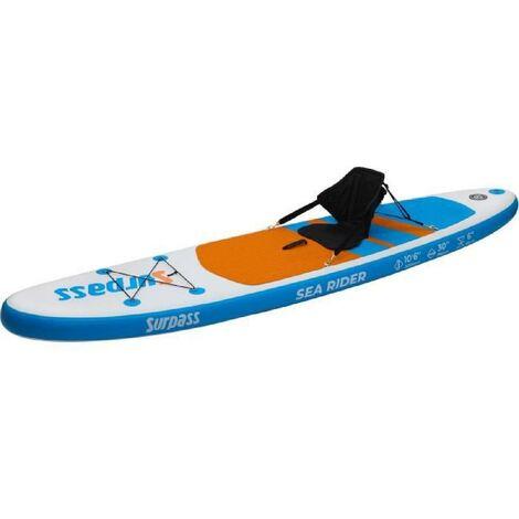 SURPASS - Kit Paddle gonflable Sea Rider Kayak - 320x76x15cm avec siege Kayak - 115kg max