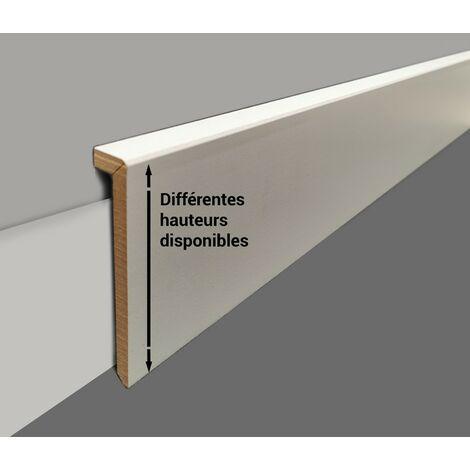Surplinthe bois - Plinthe à recouvrement prépeinte blanche - fabrication FRANCAISE – Hauteur longueur au choix - 10cm - 8 ML.