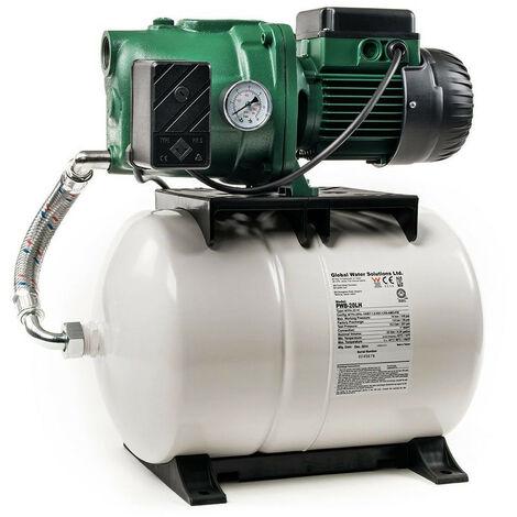 Surpresseur 100L DAB AQUAJETGWS132100M - Réservoir horizontal à diaphragme avec pompe a eau 1 kW jusqu'à 4,8 m3/h monophasé 220V