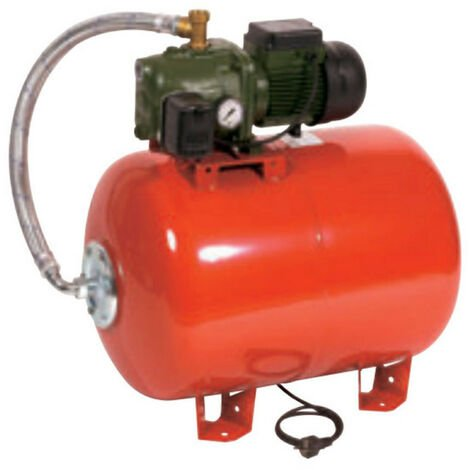 Surpresseur 100L DAB AQUAJETRED151100M - Réservoir horizontal à vessie avec pompe a eau 1,1 kW de 0,9 à 4,2 m3/h monophasé 220V