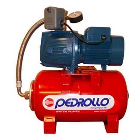 Surpresseur 100L Pedrollo HYDROFRESHPLURIJETm4100X - Pompe a eau 0,60 kW centrifuge jusqu'à 7,8 m3/h monophasé 220V