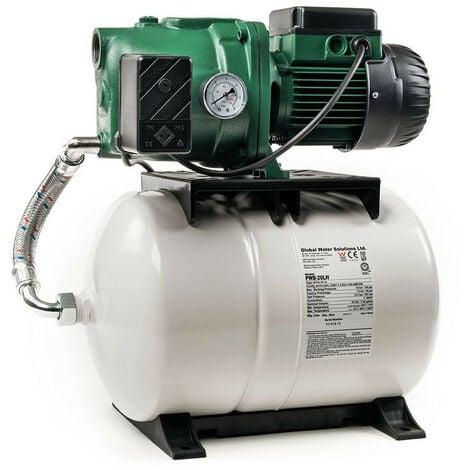 Surpresseur 20L DAB AQUAJETGWS10220M - Réservoir horizontal à diaphragme avec pompe a eau 0,75 kW jusqu'à 3,6 m3/h monophasé 220V
