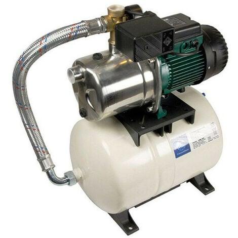 Surpresseur 20L DAB AQUAJETINOXGWS8220M - Réservoir horizontal à diaphragme avec pompe a eau 0,6 kW jusqu'à 3,6 m3/h monophasé 220V