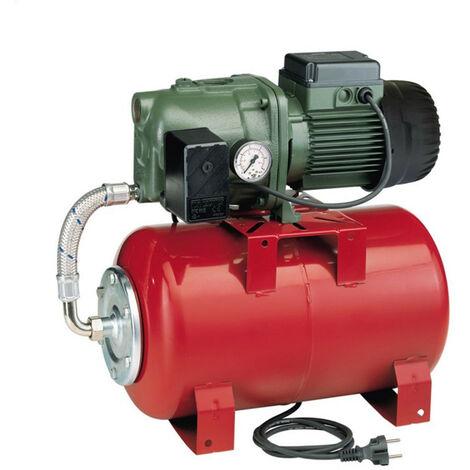Surpresseur 20L DAB AQUAJETRED8220M - Réservoir horizontal à vessie avec pompe a eau 0,6 kW jusqu'à 3,6 m3/h monophasé 220V
