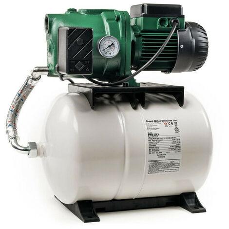 Surpresseur 60L DAB AQUAJETGWS11260M - Réservoir horizontal à diaphragme avec pompe a eau 1 kW jusqu'à 3,6 m3/h monophasé 220V