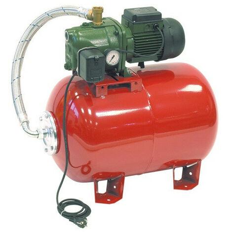 Surpresseur 60L DAB AQUAJETRED10260M - Réservoir horizontal à vessie avec pompe a eau 0,75 kW jusqu'à 3,6 m3/h monophasé 220V