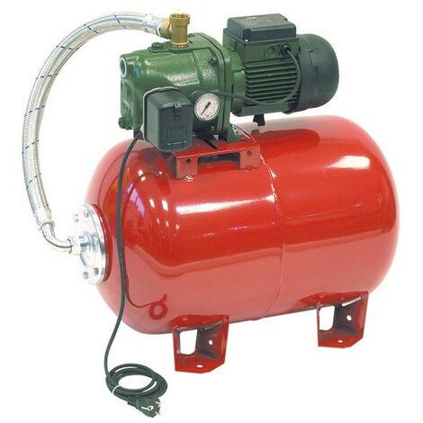 Surpresseur 80L DAB AQUAJETRED10280M - Réservoir horizontal à vessie avec pompe a eau 0,75 kW jusqu'à 3,6 m3/h monophasé 220V