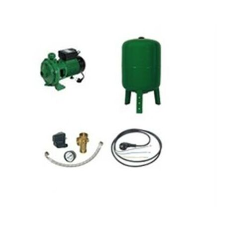 Surpresseur en Kit Pompe Monocellulaire 2000 W Réservoir vertical 100 L