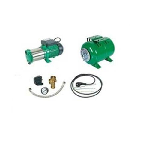 Surpresseur en Kit Pompe Multicellulaire 1450 W Réservoir horizontal 200 L